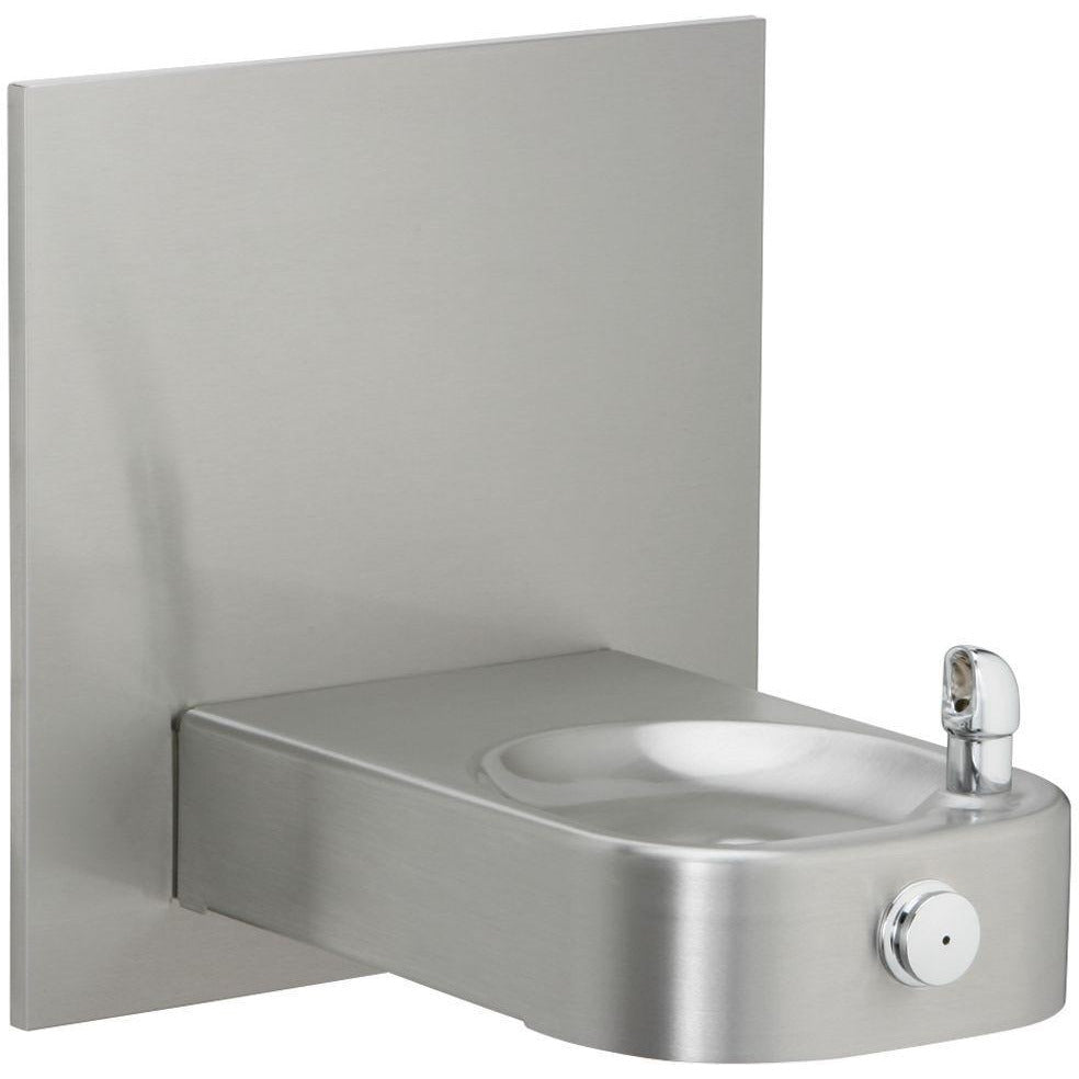 Elkay EHWM17C | In-wall Soft-sides Drinking Fountain | Filterless, Non-refrigerated, Fully Vandal-resistant, Stainless Steel - BottleFillingStations.com