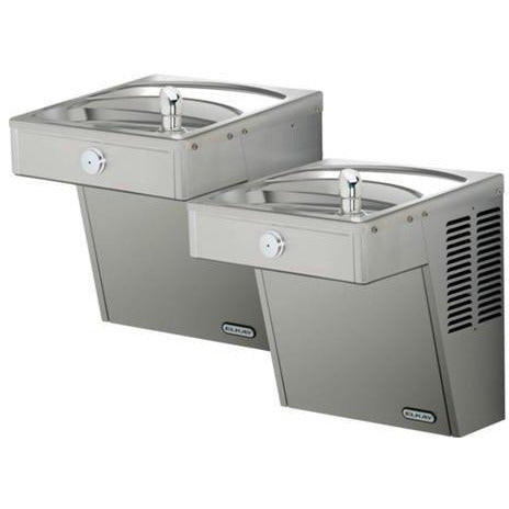 Elkay LVRCTL8SC | Wall-mount Bi-level VRC-style Drinking Fountain | Filtered, Refrigerated, Fully Vandal-resistant - BottleFillingStations.com
