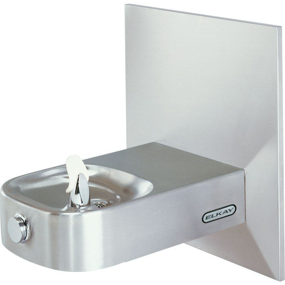 Elkay ECDFPW314C | Wall-mount Slimline Soft-sides Drinking Fountain | Filterless, Non-refrigerated, with Wall plate - BottleFillingStations.com