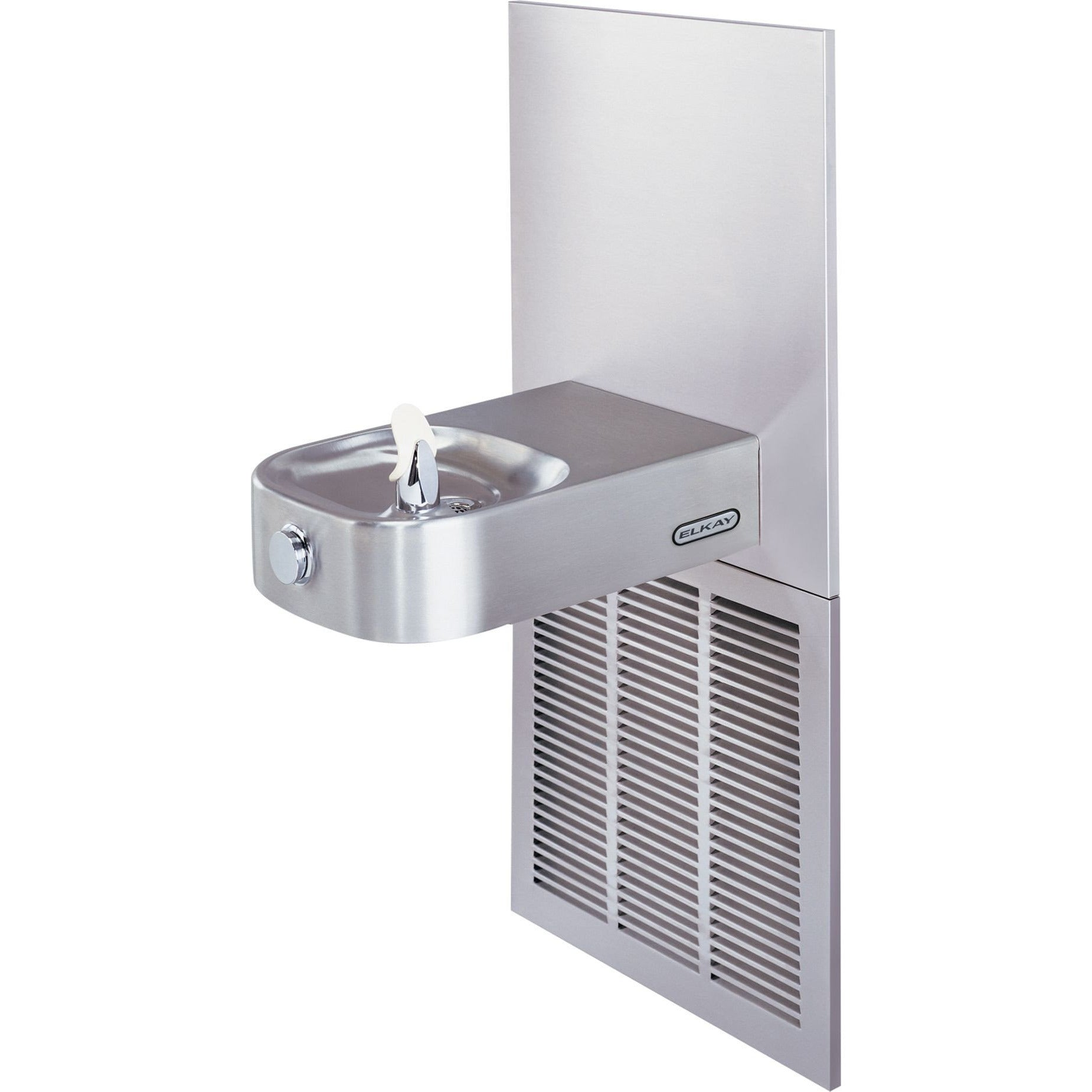 Elkay ECRSPM8K | In-wall Slimline Soft-sides Drinking Fountain | Filterless, Refrigerated (Comes with Mounting Frame) - BottleFillingStations.com
