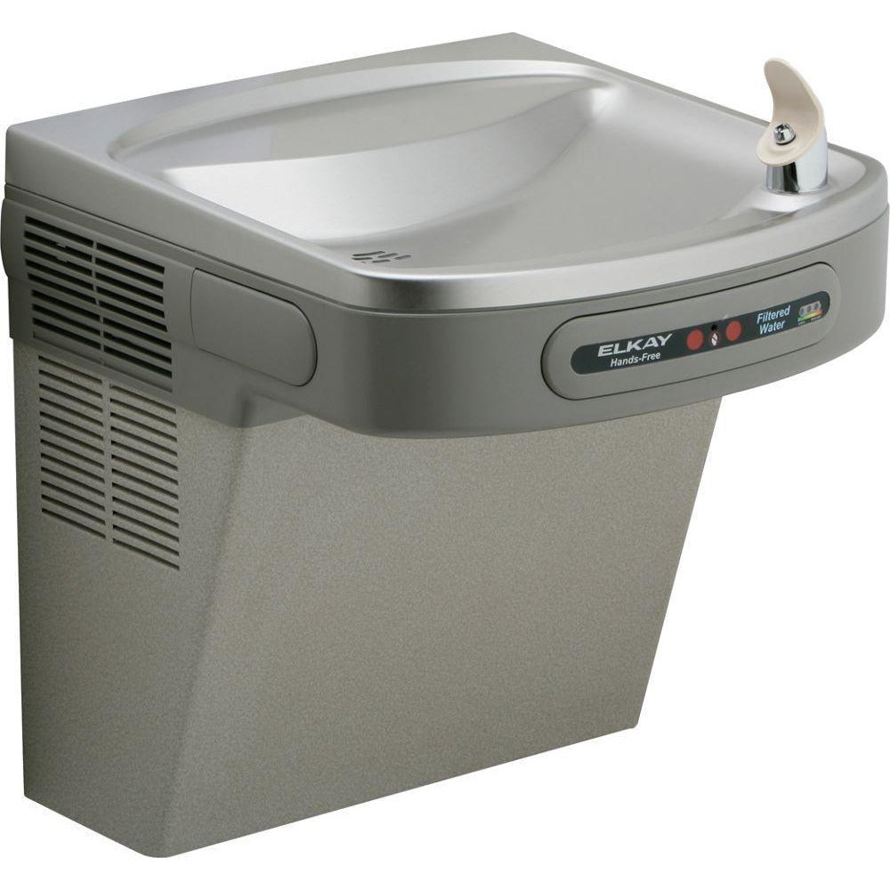 Elkay LZODL | Wall-mount EZ-style Drinking Fountain | Filtered, Non-refrigerated, Hands-free, Granite Gray - BottleFillingStations.com