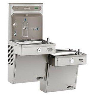 Elkay VRCGRNTL8WSK | Wall-mount Bi-level Bottle Filling Station | Filterless, High-efficiency chiller, VRC-style Fountains, Vandal-resistant Fountains - BottleFillingStations.com