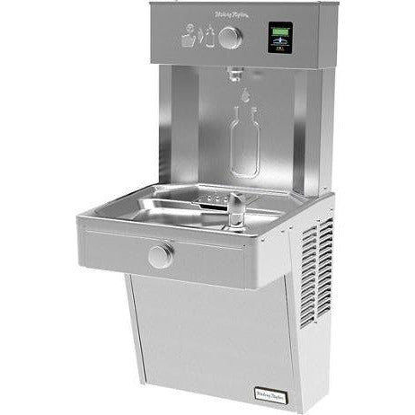 Halsey Taylor HTHBHVR8 | Wall-mounted Bottle Filling Station | Filtered, Refrigerated, Vandal-resistant, Stainless Steel color finish - BottleFillingStations.com