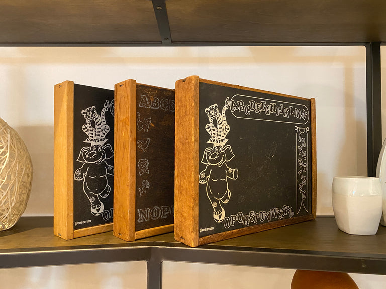 vintage chalk board box