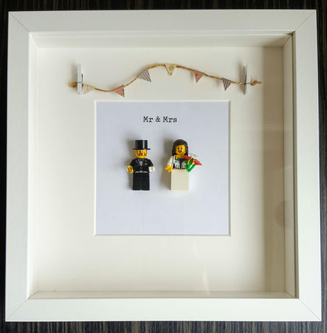 Bride & Groom Mr & Mrs Custom Lego Picture