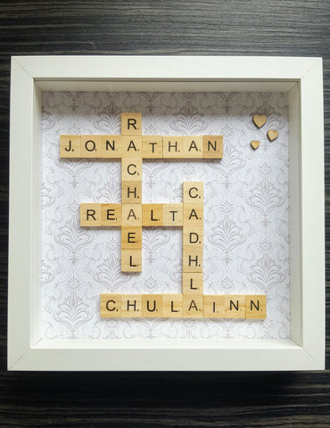 Scrabble Tile Frames