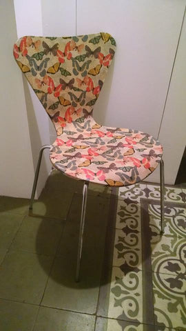 Decoupage Butterfly Chair 1