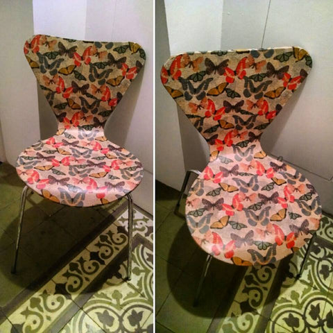Decoupage Butterfly Chair 2