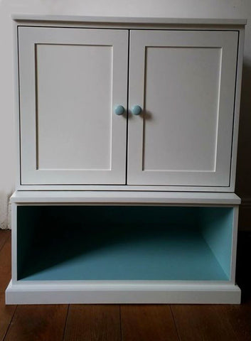 Custom Furniture Painting Geometric Cabinet After 1
