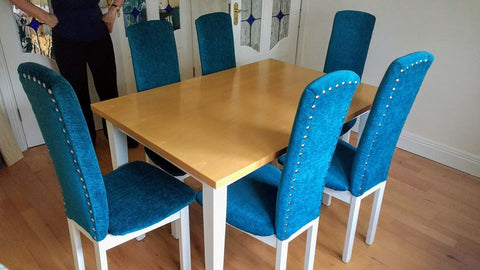 Handpainted Dining Table & Chairs After 1
