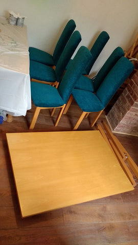 Handpainted Dining Table & Chairs Before 1