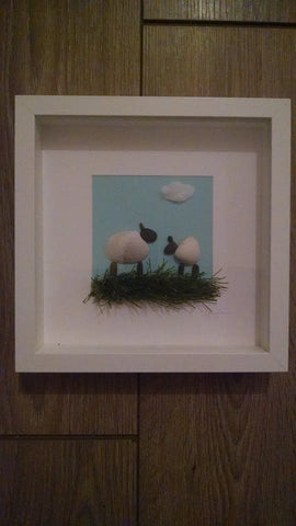 Sheep Irish Pebble Art 1