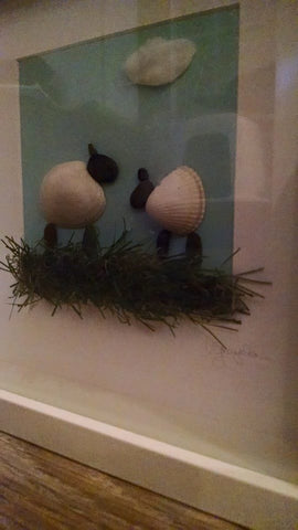 Sheep Irish Pebble Art 2