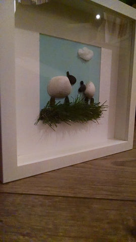 Sheep Irish Pebble Art 3
