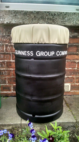 Upcycled Guinness Beer Keg