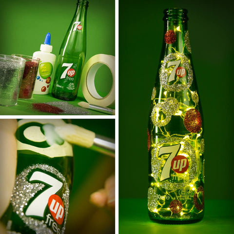 Upcycled 7up Bottle
