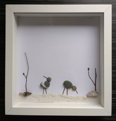 At the Seaside - Birds Irish Pebble Art 1