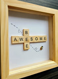 Bee Awesome Scrabble Art Tile  Frame 2