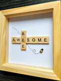 Bee Awesome Scrabble Art Tile  Frame 3