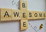 Bee Awesome Scrabble Art Tile  Frame 4