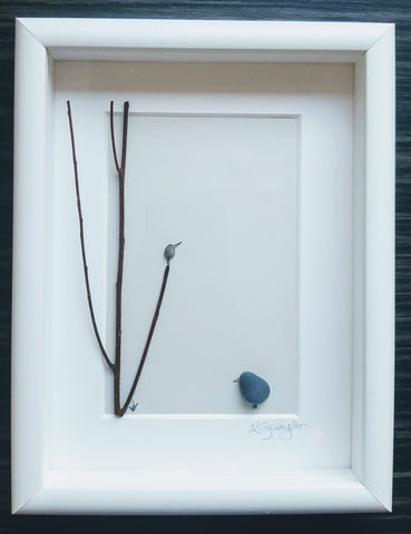 One in a tree - Irish Pebble Art