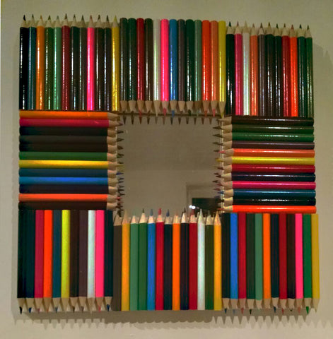 Upcycled Colouring Pencil Mirror 1