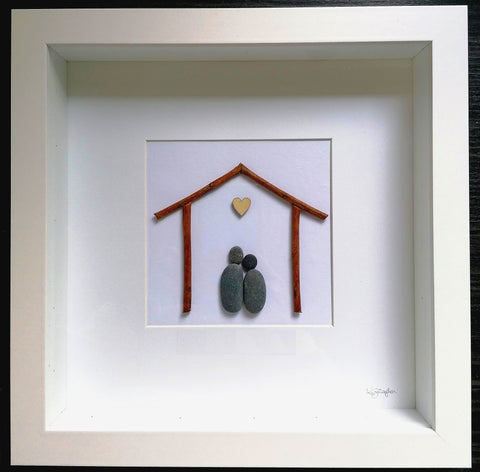 Couple Home Pebble Art Standard
