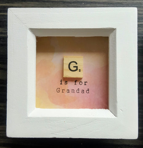 G is for Grandad - Scrabble Frame 1