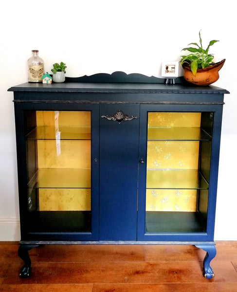 Hand Painted China Drinks Cabinet