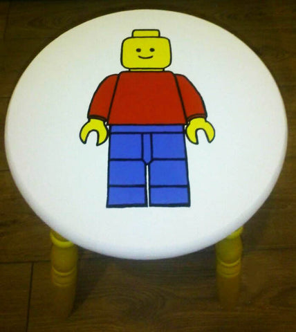 Lego Handpainted Stool. Painted in Annie Sloan Old White chalk paint