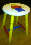 Lego Handpainted Stool. Painted in Annie Sloan Old White chalk paint. Hand painted.