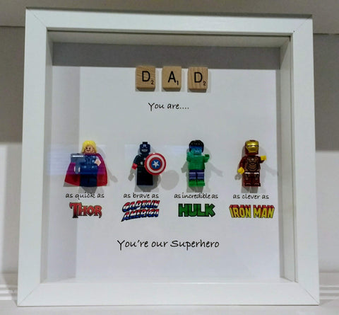 Dad You're My Superhero - Lego Frame