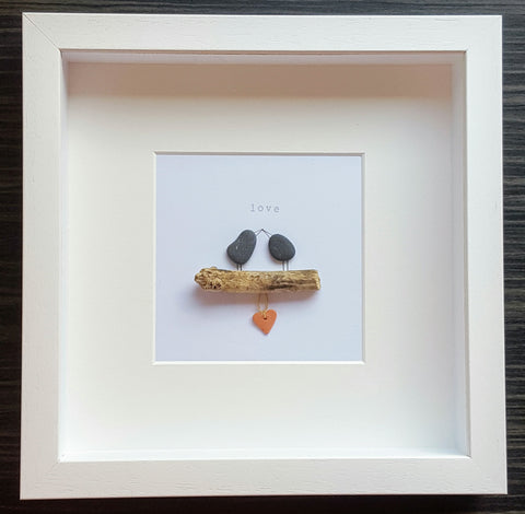 Love Birds - Pebble Art 1