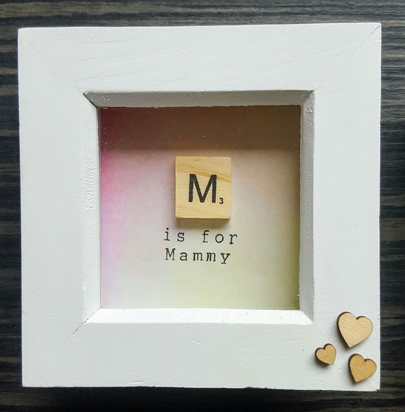M is for Mammy - Scrabble Frame 1