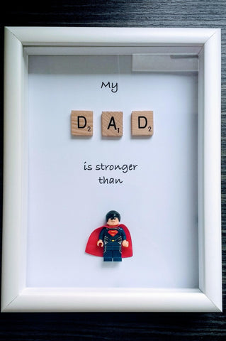 Superman Dad Custom Lego Frame Personliased