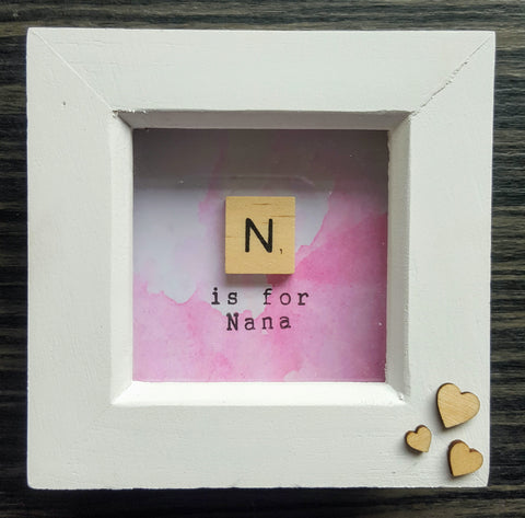N is for Nana - Scrabble Tile Frame 1