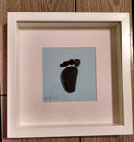 Baby Footprint Custom Irish Pebble Art 5