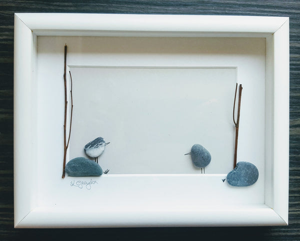 On the Rocks Medium Custom Irish Pebble Art 1