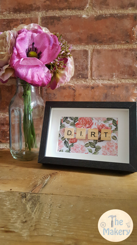 "On the Tiles - ""Dirt"" Dublin Slang Scrabble Frame"
