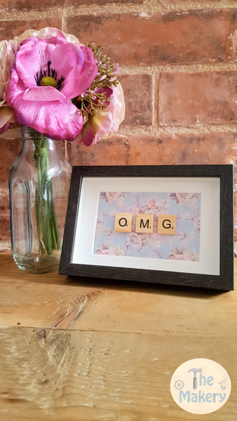 On the Tiles - OMG Dublin Slang Scrabble Gift Frame