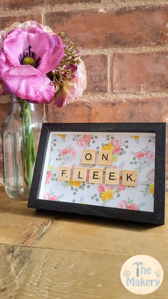 On the Tiles - On Fleek Dublin Slang Scrabble Gift Frame