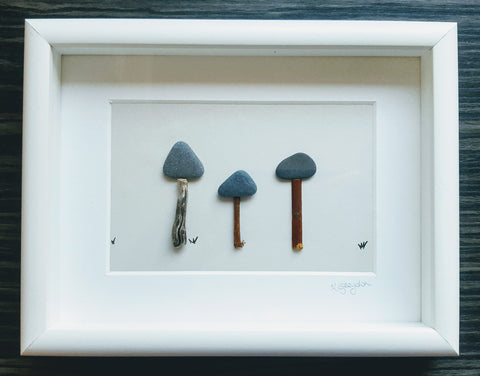 Pebble Art Mushroom Medium 1
