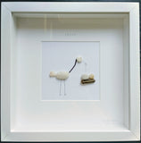 Stork - Custom Irish Pebble Art 1