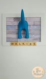 Walkies Dog Lead Holder - Scrabble Frame 1