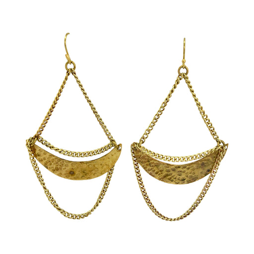 Crescent Chain Earrings