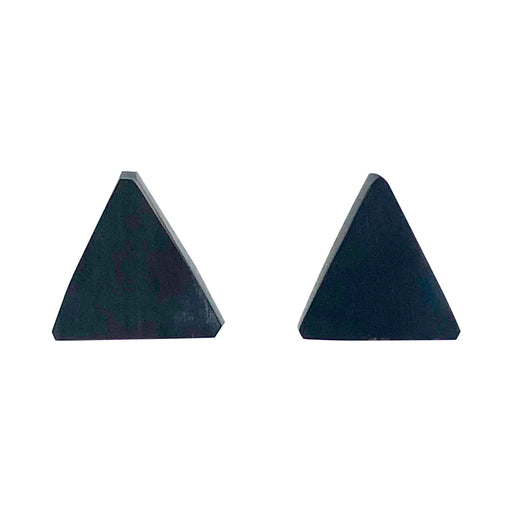 Black triangle stud earring