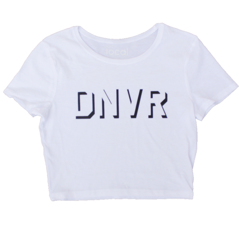 DNVR Crop Tee - White (ONLY 5 LEFT)