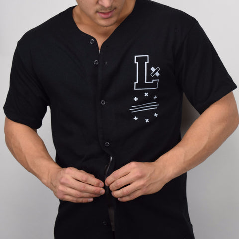 Offset Baseball Jersey - Black