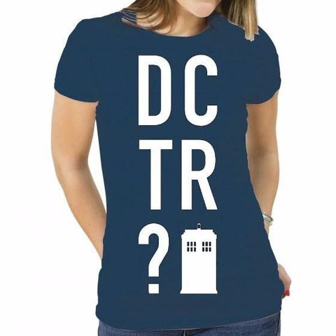 Doctor Who - Dctr? - Ladies Fitted T-Shirt