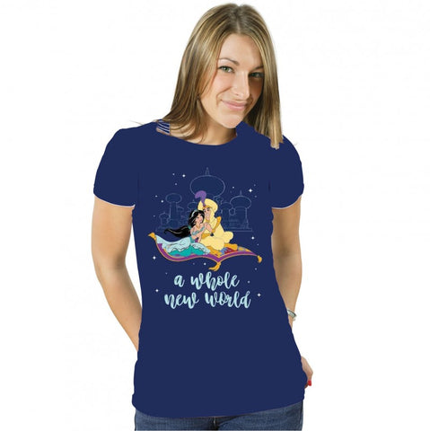 Aladdin – Whole New World - Ladies Fitted T-Shirt